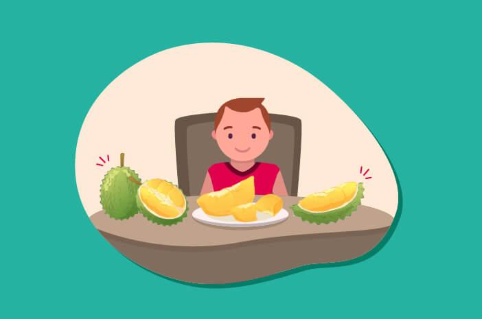 Anak terlalu banyak makan durian