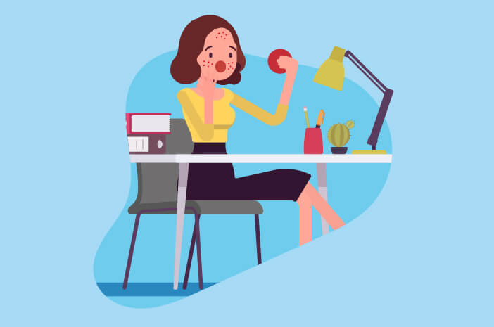 stres kerja, jerawat stres
