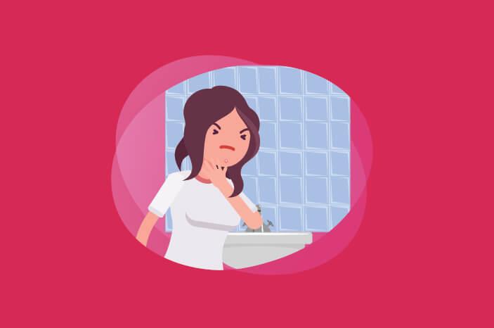 Jelang Menstruasi, Benarkah Jerawat Sering Muncul di Dagu?