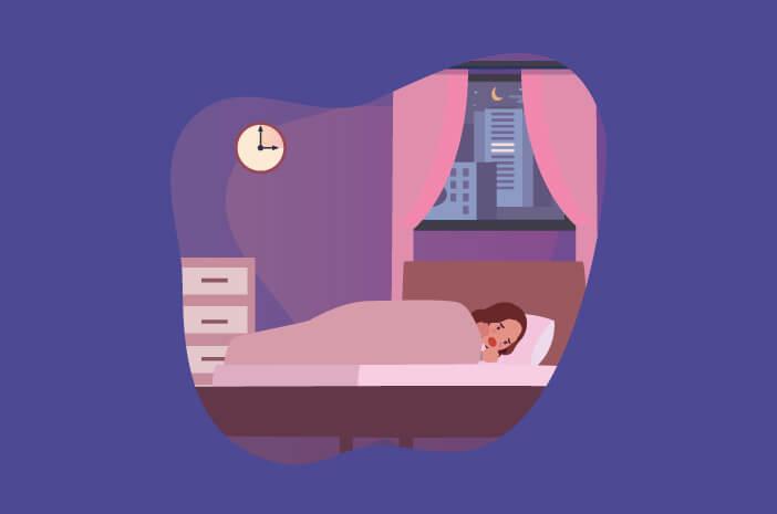 penyebab night terror, akibat kelelahan, panik saat tertidur, teriak saat tertidur