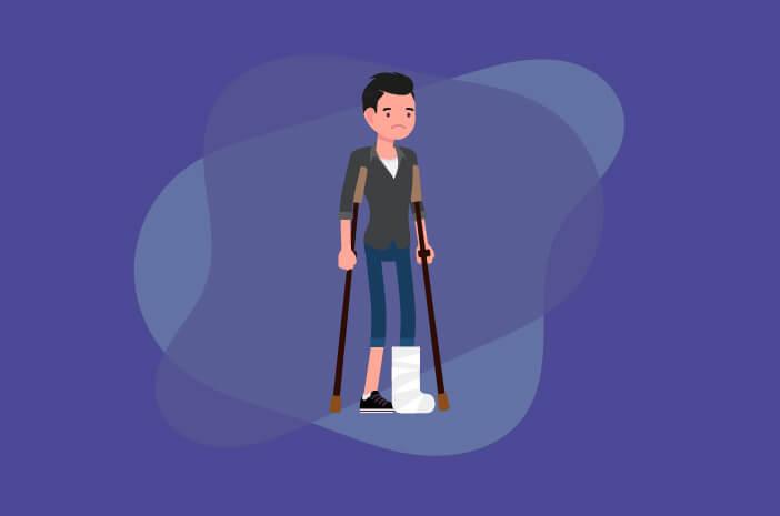 patah kaki, mitos tentang patah kaki, patah kaki tidak sakit,Tulang Bisa Bergerak Berarti Tidak Patah